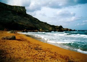 Roter Strandsand in San Blas Bay - (Europa, Strand, roter-strand)
