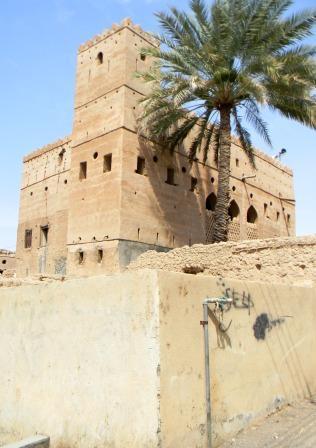 Reste einer Wohnfestung in al Mudayrib, Provinz Sharquiya - (Architektur, Arabien, fotografieren)