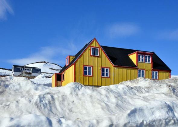Ein Gästehaus in Ittoqqortoormiit / Grönland - (Hostel, Couchsurfing, Grönland)