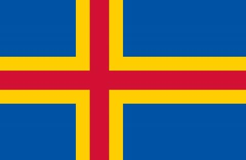 Flagge Aland - (Insel, Skandinavien, Schweden)