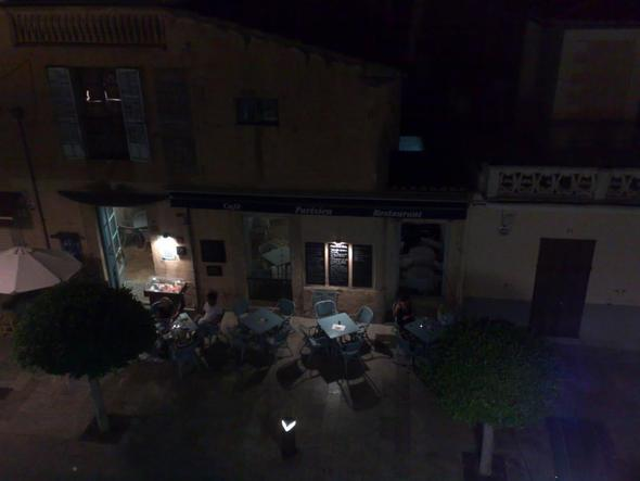 Café Parisien am Abend - (Spanien, Mallorca, Essen gehen)