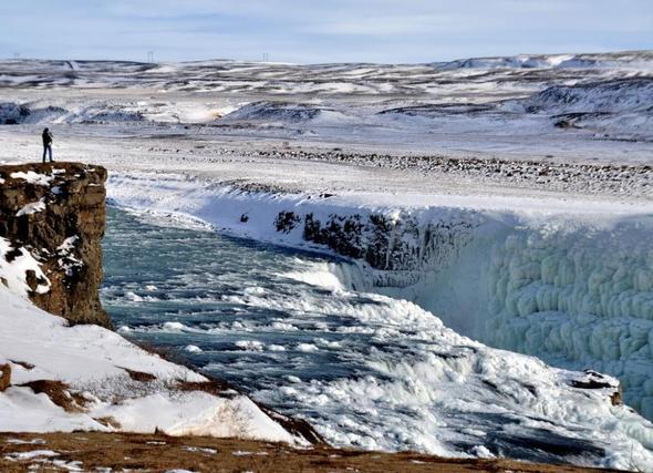 Gullfoss, Island - (Natur, Island, Wasserfall)
