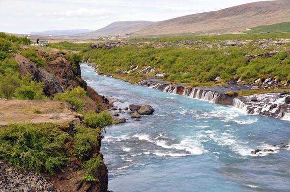 Hraunfossar, Island - (Natur, Island, Wasserfall)