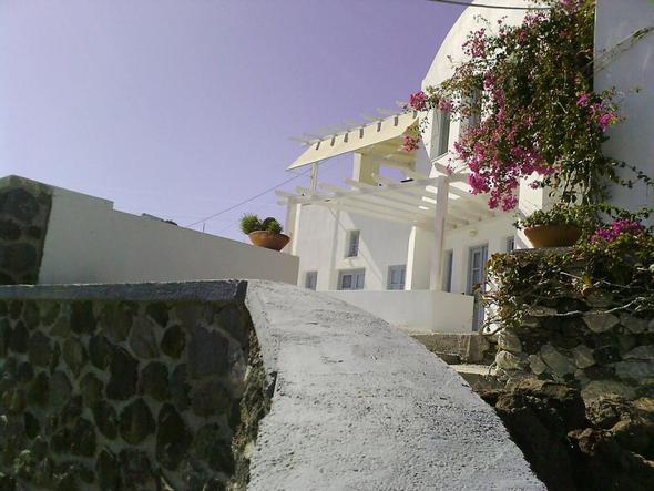 Frühstücksterrasse Hotel Apanemo Santorini - (Europa, Griechenland, Hoteltipp)