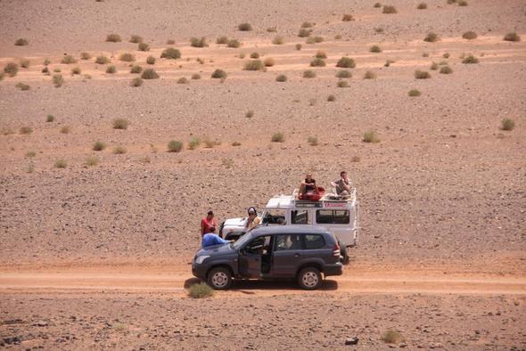 An der Grenze zu Algerien - (Afrika, Auto, Marokko)