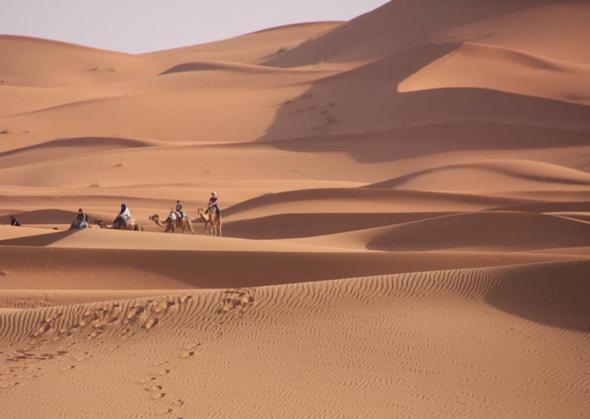 Sahara Blick aus dem Fenster Riad Azamir - (Afrika, Auto, Marokko)
