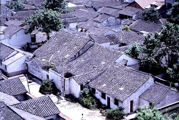 Blick auf die Altstadt von Souzhou - (Asien, China, Großstadt)