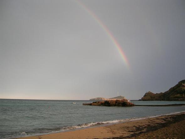 Strand im Oktober bei Gewitter - (Spanien, Mallorca, Wetter)