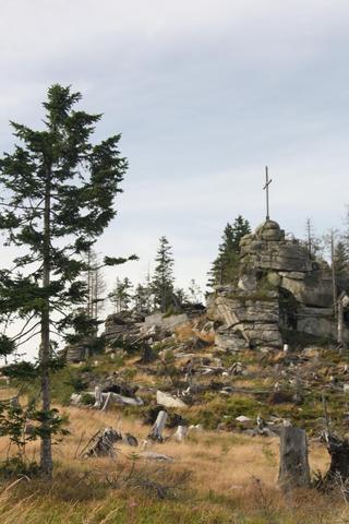 Der Hochstein auf dem Dreisesselberg - (Deutschland, Bayern, Berge)