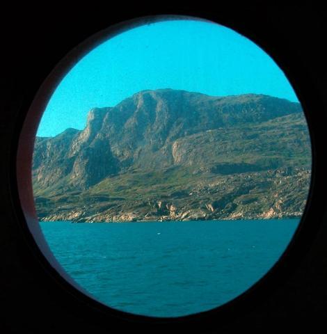 Grönland  aus Kabinensicht - (Kreuzfahrt, AIDA, Kabine)