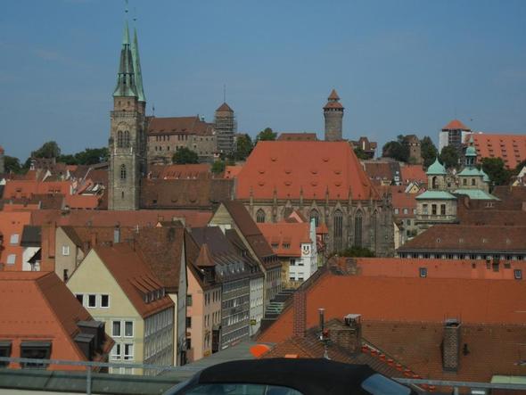 Blick über Nürnberg zur Kaiserburg - (Deutschland, Sehenswürdigkeiten, Bayern)