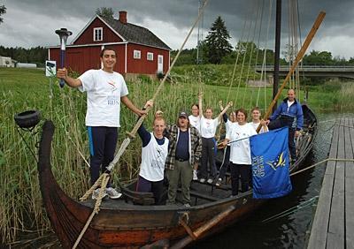 vikinger in nysäter haus am see - (Schweden, Kanu, Storfors)