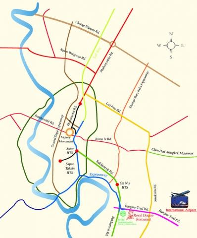 Lageplan Royal Dragon Bangkok - (Asien, Thailand, Bangkok)