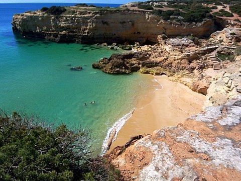 Praia Albandeira bei Carvoeiro - (Portugal, Laos, Algarve)