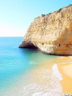 Praia Carvalho bei Carvoeiro - (Portugal, Laos, Algarve)