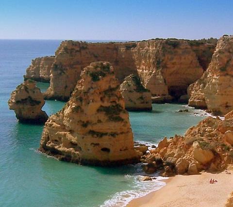 Praia Marinha bei Carvoeiro - (Portugal, Laos, Algarve)
