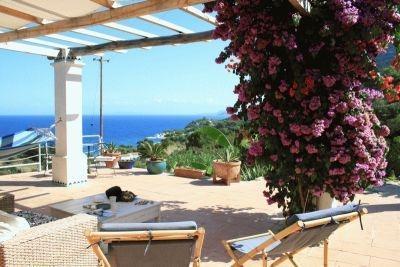 ausblick auf die Bucht von Sant Andrea - (Italien, Urlaub, Strand)