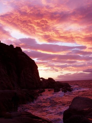 Sonnenuntergang - (Italien, Urlaub, Strand)