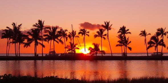 Sunset on Hawaii - (USA, Essen, Hawaii)