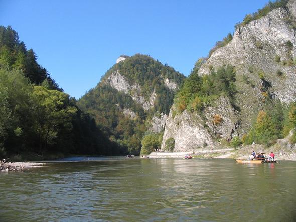 Landschaft und Fluss bei Krakau - (Europa, Reiseziel, Polen)
