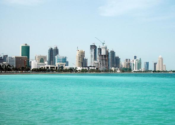 Doha City, West Bay, Qatar bei Tag - (Reiseziel, Zwischenstopp, Katar)