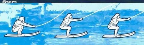 Start beim Wasserski - (Deutschland, Wasserski)