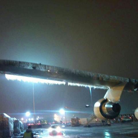 Eis am FRA Aiport - (Flugverspätung Mauritius, Mitflieger)