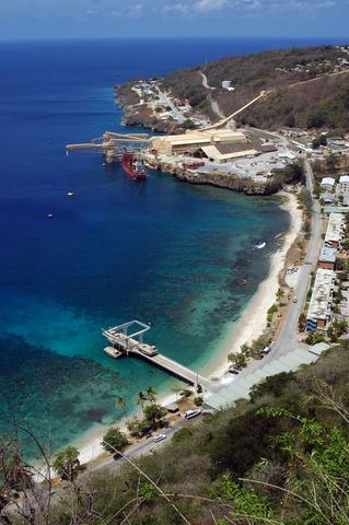 Flying Fish Cove, der Hauptort von Christmas Island - (Reiseziel, weltweit, Flora und Fauna)