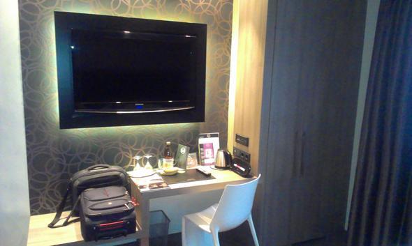 Flat Screen an der Wand - (Hotel, Frankfurt, Frühstück)