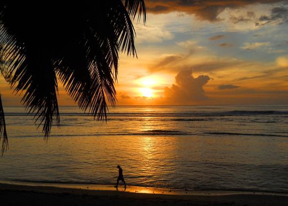 Sonnenuntergang von meinem Haus aus gesehen - (Insel, Kreuzfahrt, Besichtigung)