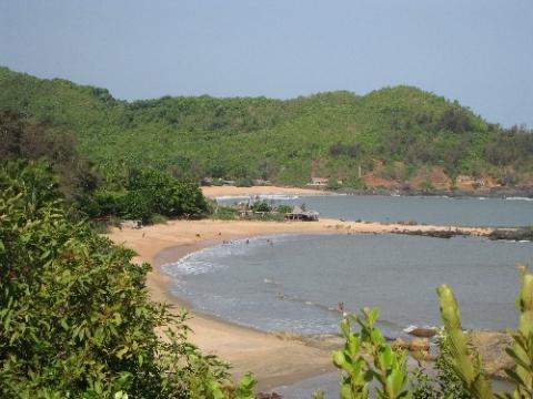 Om-Beach in Karnataka - (Indien, Goa, Suedindien)