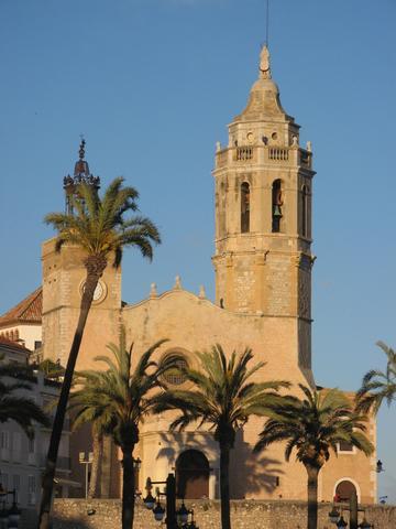 Kirche in Sitges nahe am Meer. - (Spanien, Mittelmeer, Katalonien)