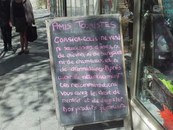 Kein Eselwurst... - (Frankreich, Insel, Restaurant)