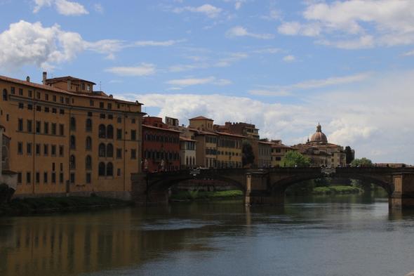Der Arno in Florenz - (Europa, Italien, Reiseziel)