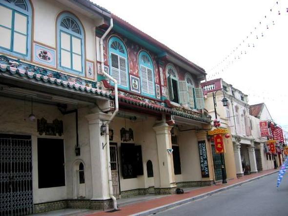 Eine Straße mit Nyonya Häusern - (Autoreise, Malaysia, Westküste)