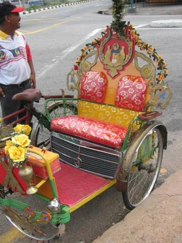 Luxuriöse Fahrrad-Rikscha - (Autoreise, Malaysia, Westküste)