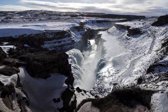 Der Gullfoss - (Städtereise, Skandinavien, Norwegen)