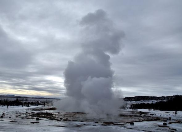 Der Geysir Strokkur - (Städtereise, Skandinavien, Norwegen)