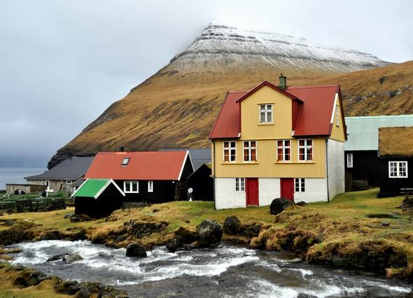 Gjógv / Färöer Inseln - (Reise, Stadt)