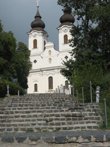 Klosterkirche von Tihany über dem Plattensee. - (Ausflug, Ungarn, Balaton)