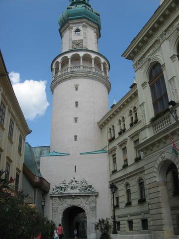 Wasserturm im Zentrum von Sopron (Ödenburg) in Ungarn. - (Sehenswürdigkeiten, Ungarn, Wasserturm)
