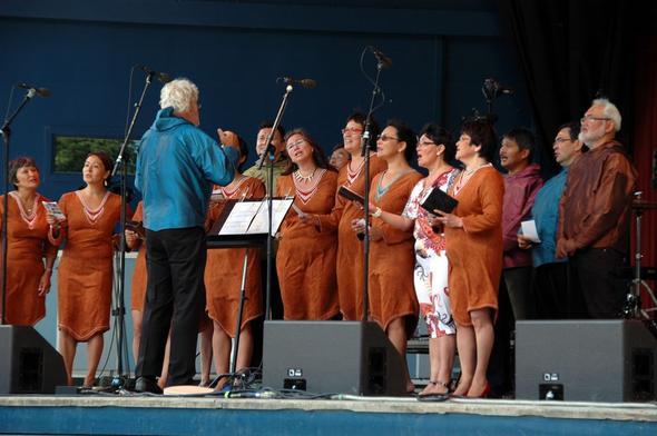 EIne grönländische Band im Tivoli von Kopenhagen - (Europa, Städtereise, Dänemark)