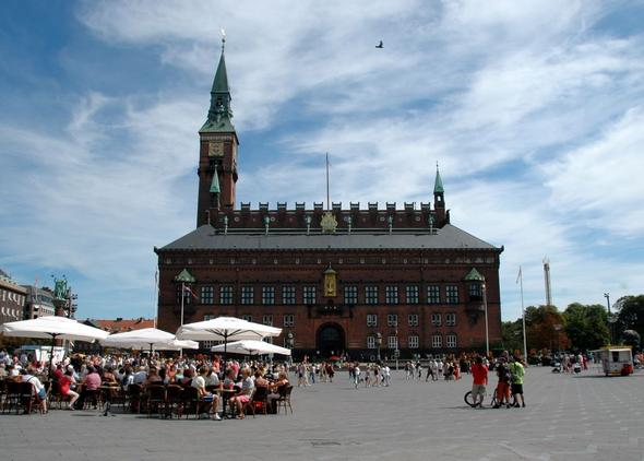 Am Rathaus von Kopenhagen - (Europa, Städtereise, Dänemark)