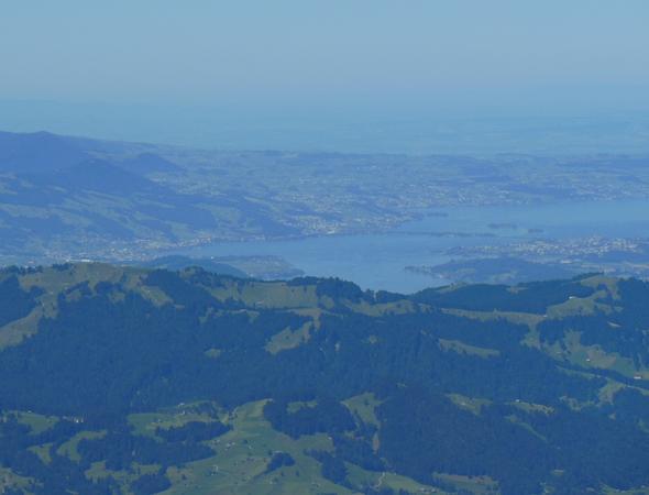 Blick vom Säntis auf den Zürichsee - (Schweiz, Ausflug, Kanton)