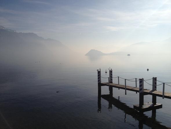 Das Licht der Wintersonne in Menaggio - (Italien, Hotel, Winter)