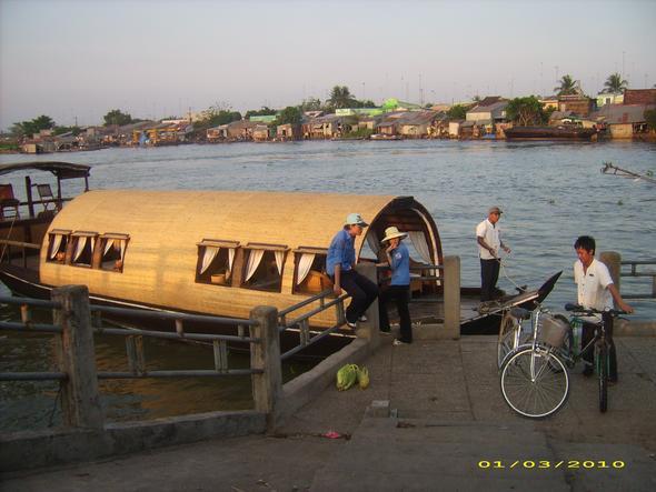 Unser Boot auf dem Mekong - (Reisezeit, Vietnam)