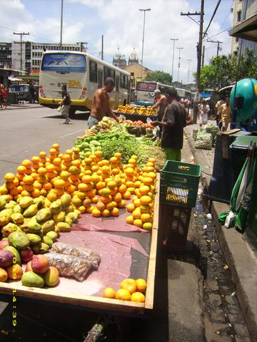 Straßenhändler - (Südamerika, Strand, Brasilien)