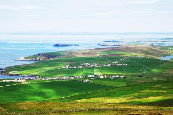 Shetland landscape - (Insel, Wanderurlaub, Shetland)