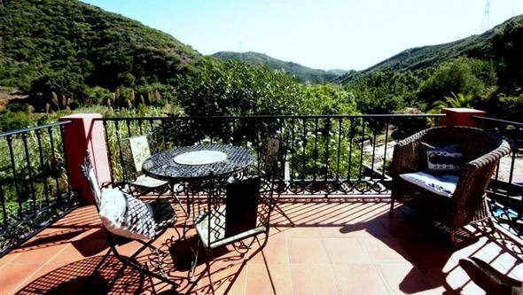 Ausblick vom Balkon - (Spanien, Wein, Andalusien)