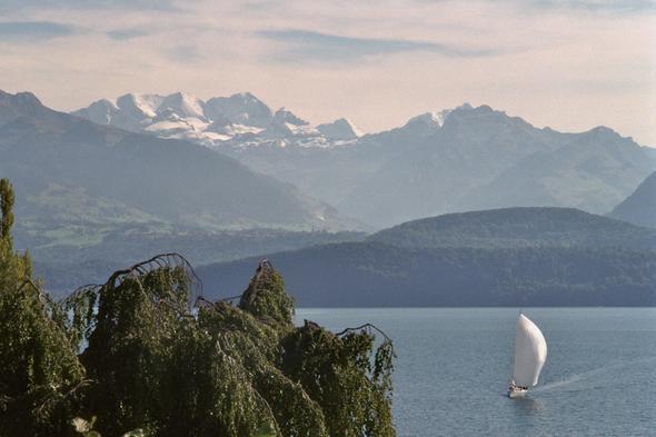 Thuner See - (Schweiz, Pension, See)
